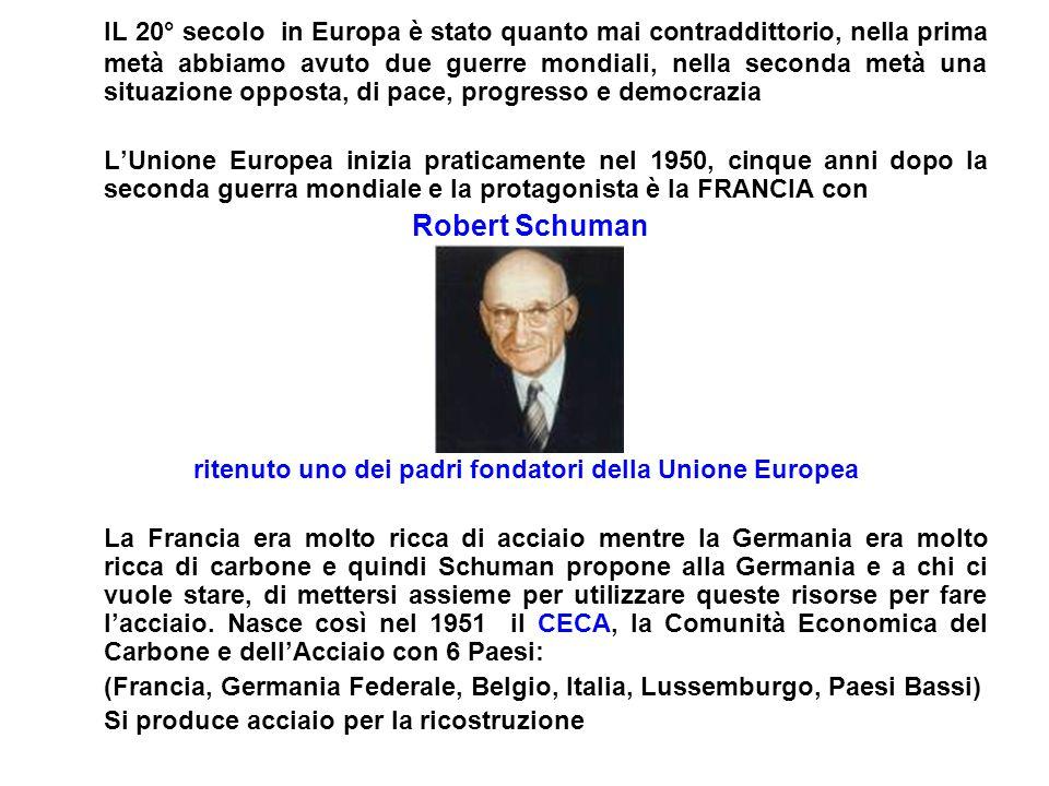 ritenuto uno dei padri fondatori della Unione Europea