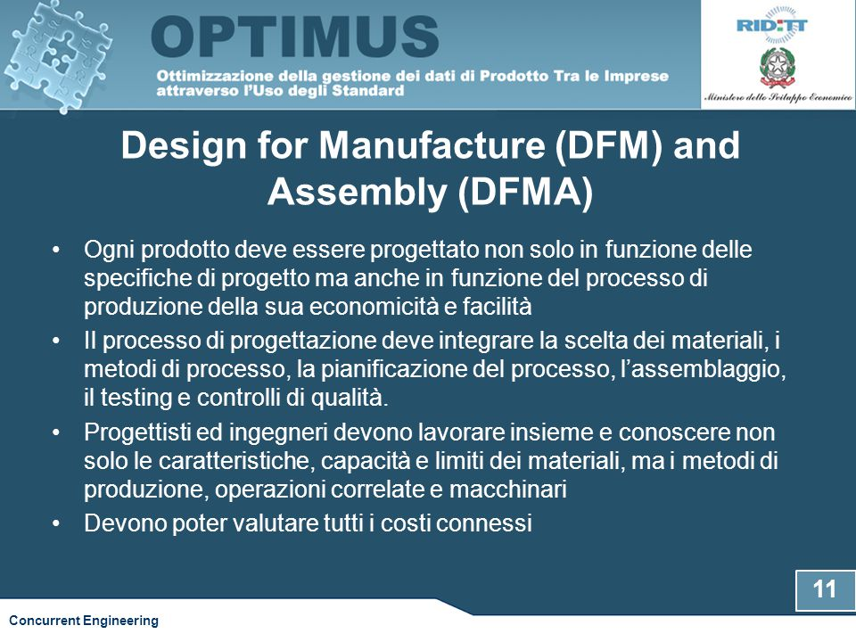 Design for Manufacture (DFM) and Assembly (DFMA)