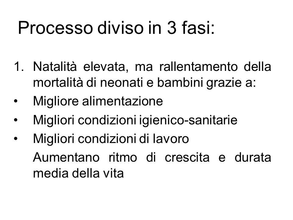 Processo diviso in 3 fasi: