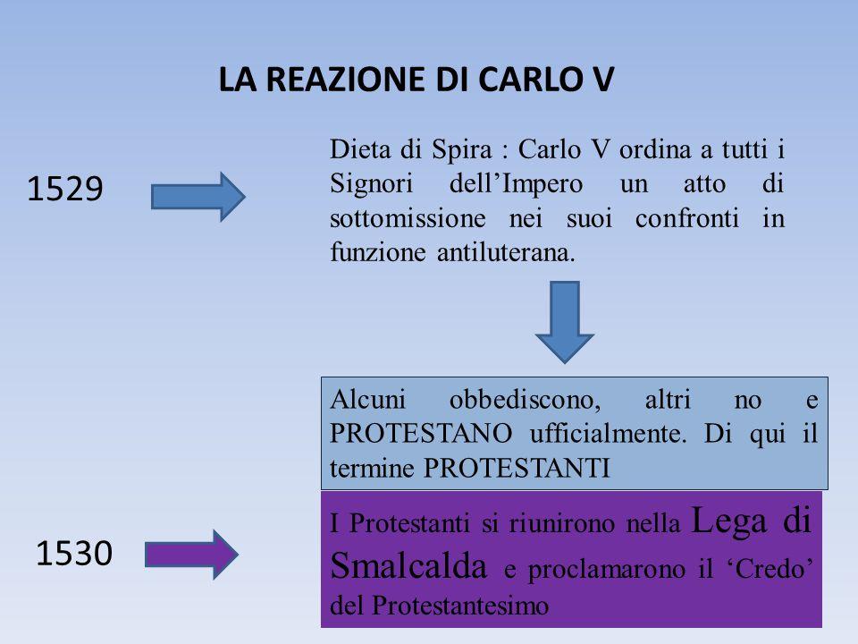 LA REAZIONE DI CARLO V 1529.