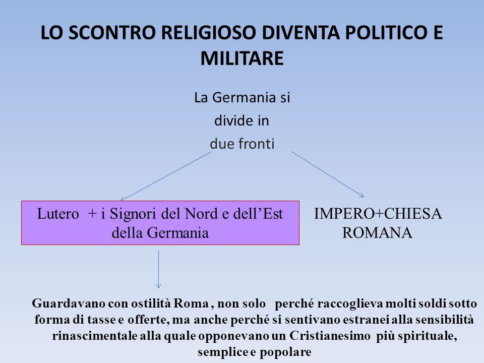 LO SCONTRO RELIGIOSO DIVENTA POLITICO E MILITARE