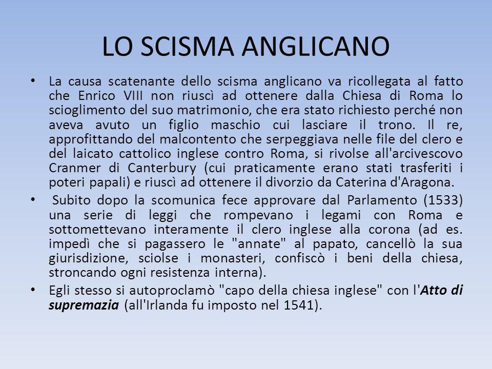 LO SCISMA ANGLICANO