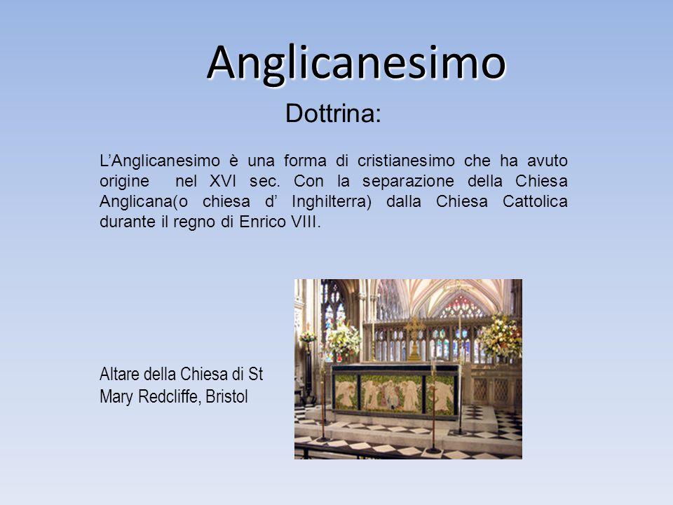 Anglicanesimo Dottrina: