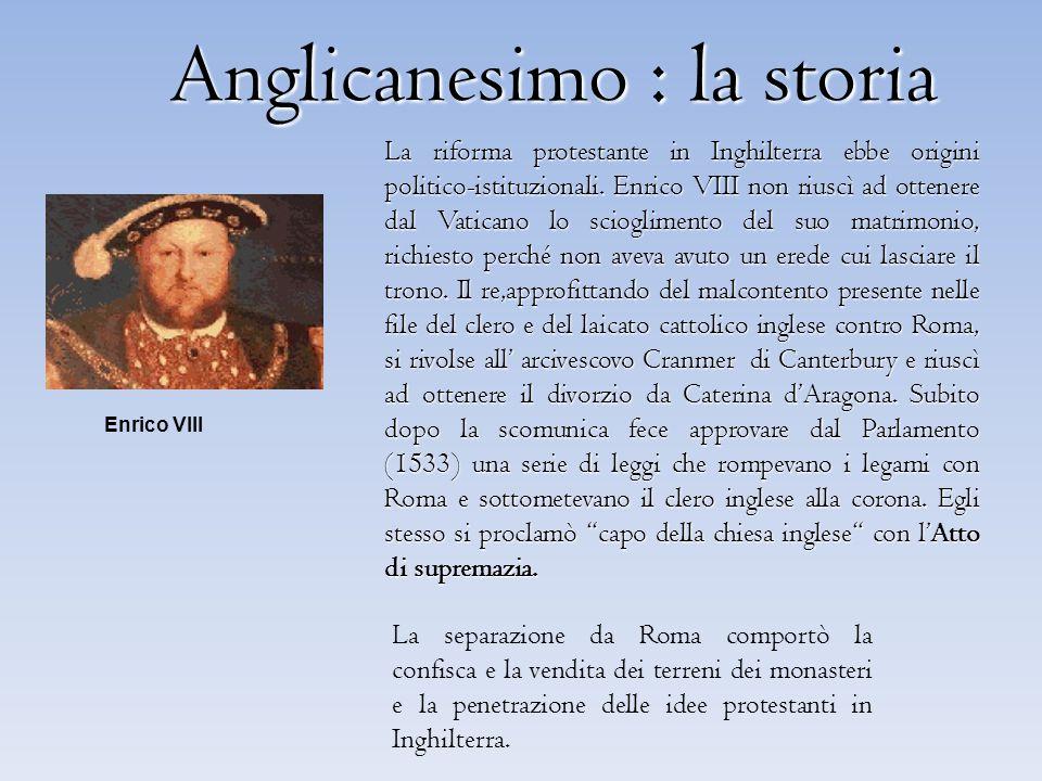 Anglicanesimo : la storia