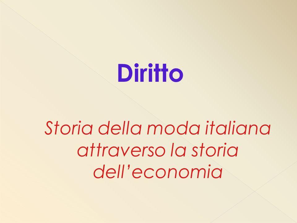 Diritto Storia della moda italiana attraverso la storia dell'economia