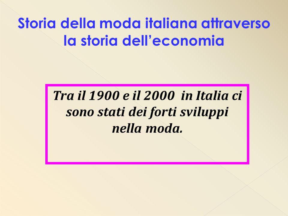 Storia della moda italiana attraverso la storia dell'economia