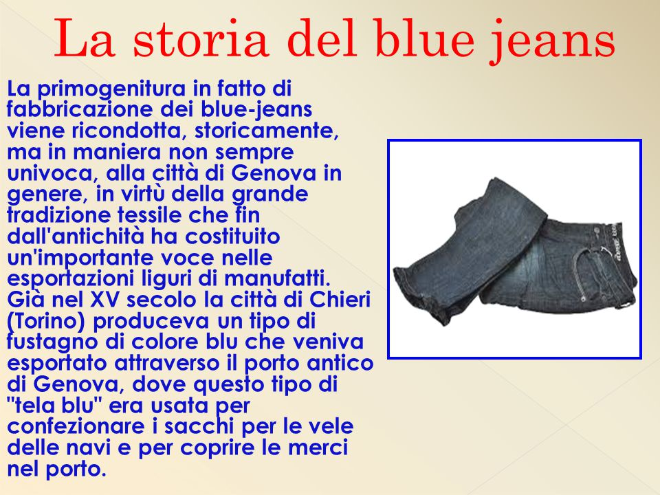 La storia del blue jeans