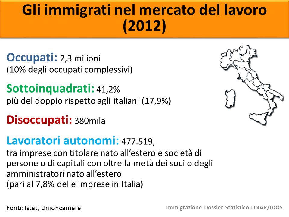 Gli immigrati nel mercato del lavoro (2012)