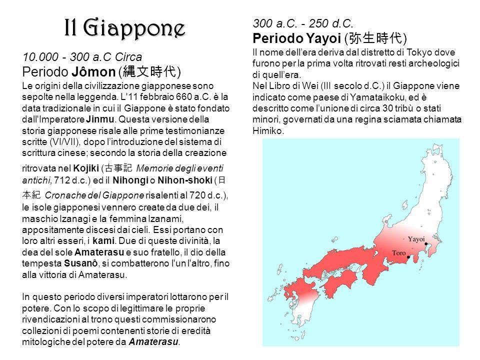 Il Giappone Periodo Yayoi (弥生時代) Periodo Jômon (縄文時代)
