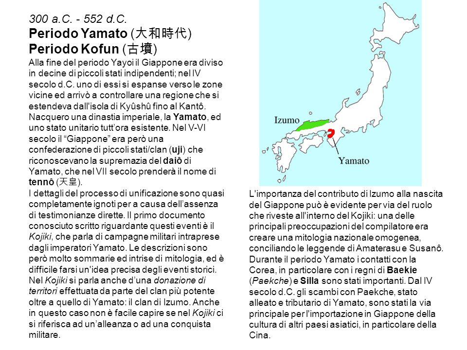 Periodo Yamato (大和時代) Periodo Kofun (古墳) 300 a.C. - 552 d.C.