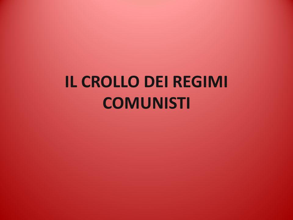 IL CROLLO DEI REGIMI COMUNISTI