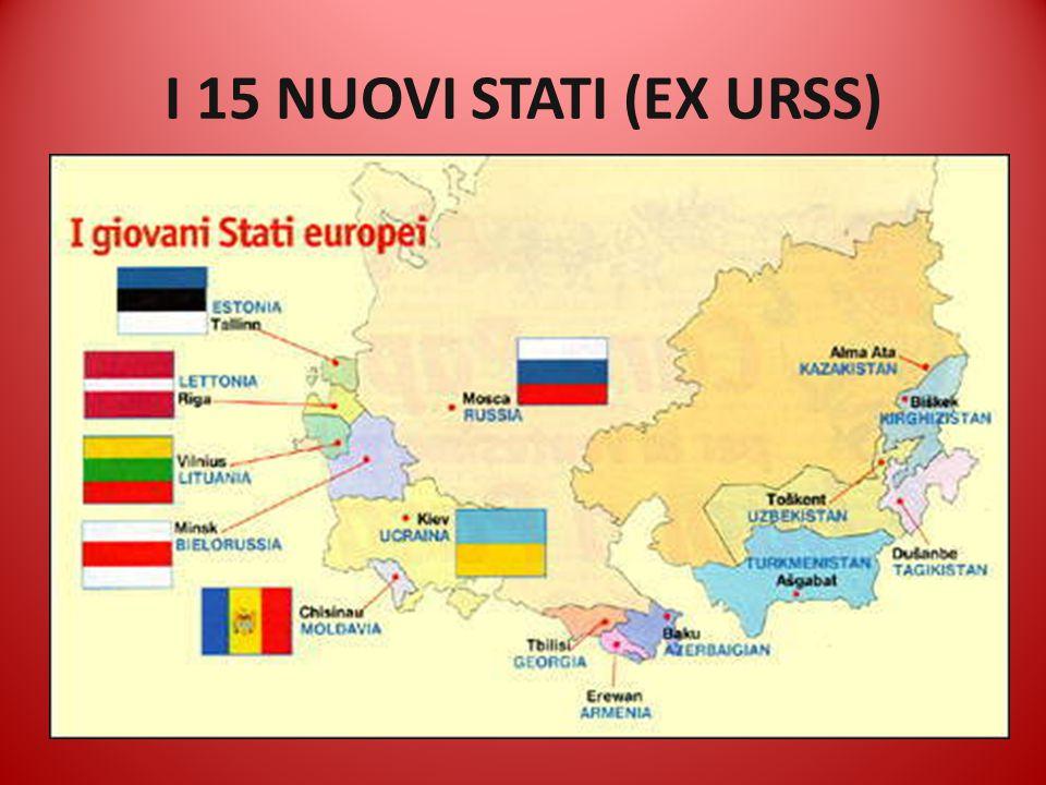 I 15 NUOVI STATI (EX URSS)