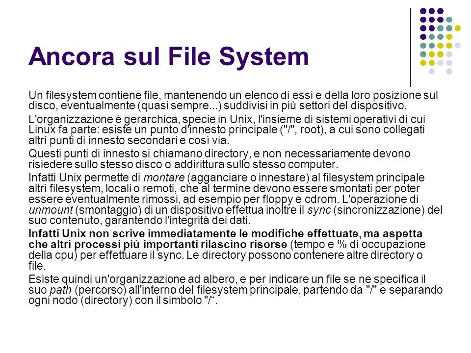 Ancora sul File System