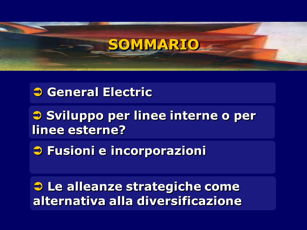 SOMMARIO  General Electric