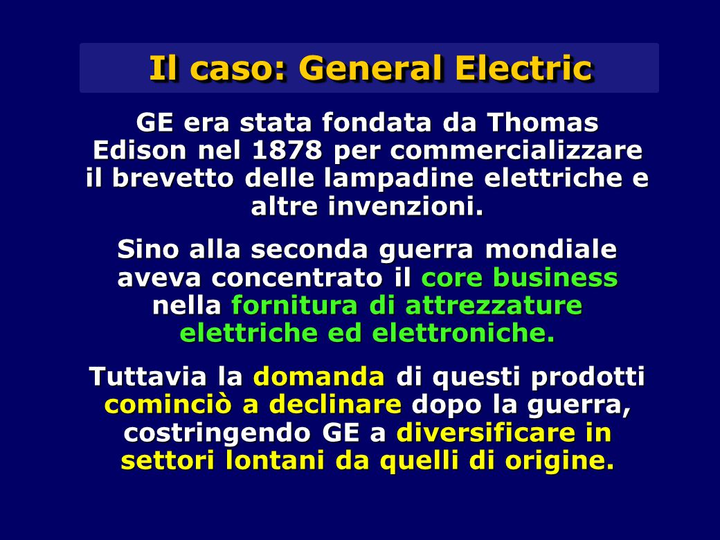 Il caso: General Electric