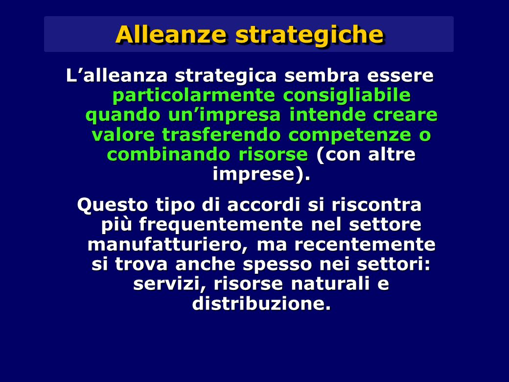 Alleanze strategiche