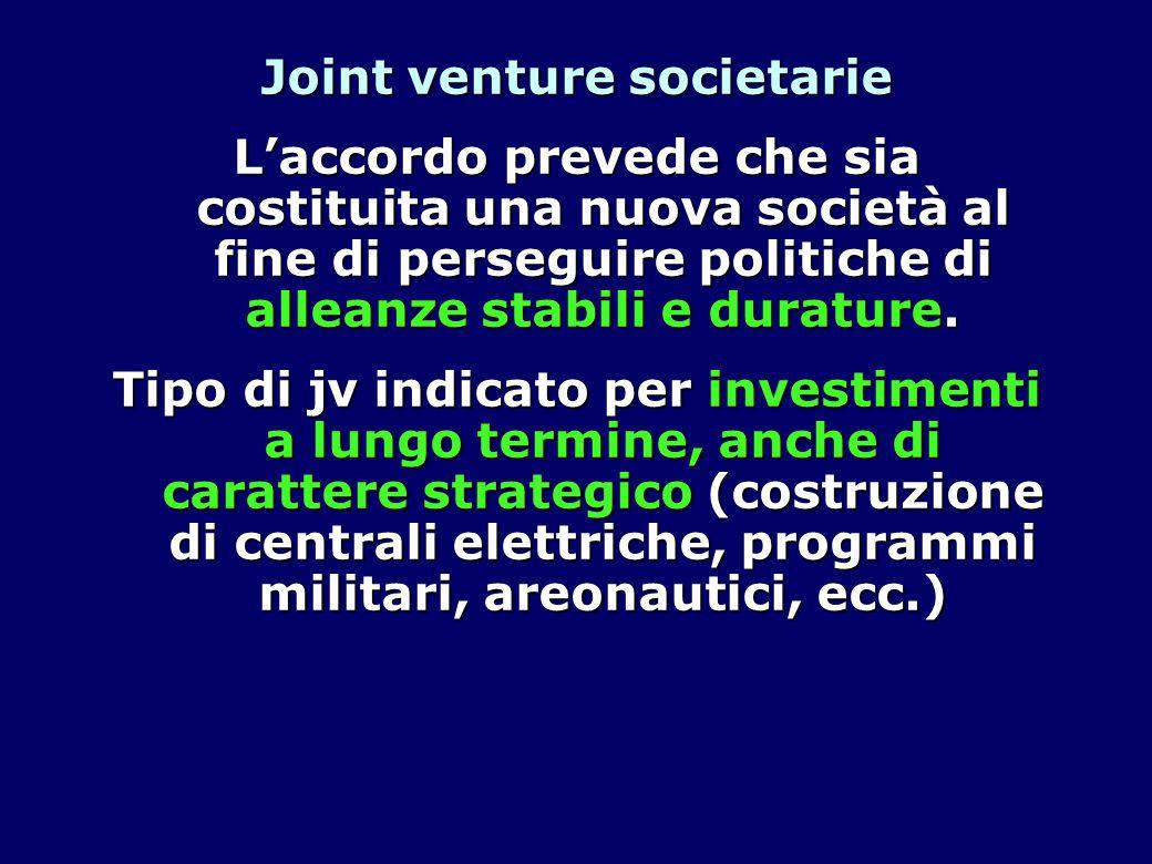 Joint venture societarie
