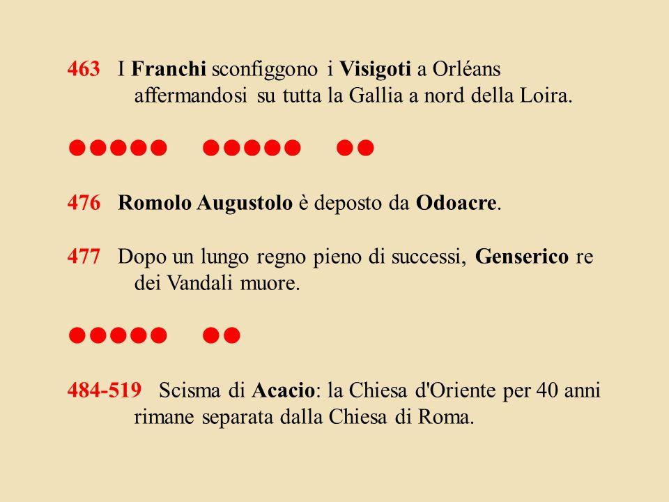 463 I Franchi sconfiggono i Visigoti a Orléans