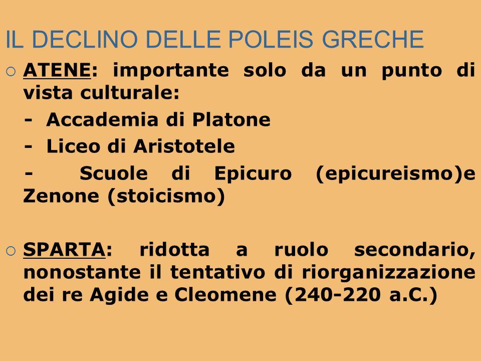 IL DECLINO DELLE POLEIS GRECHE