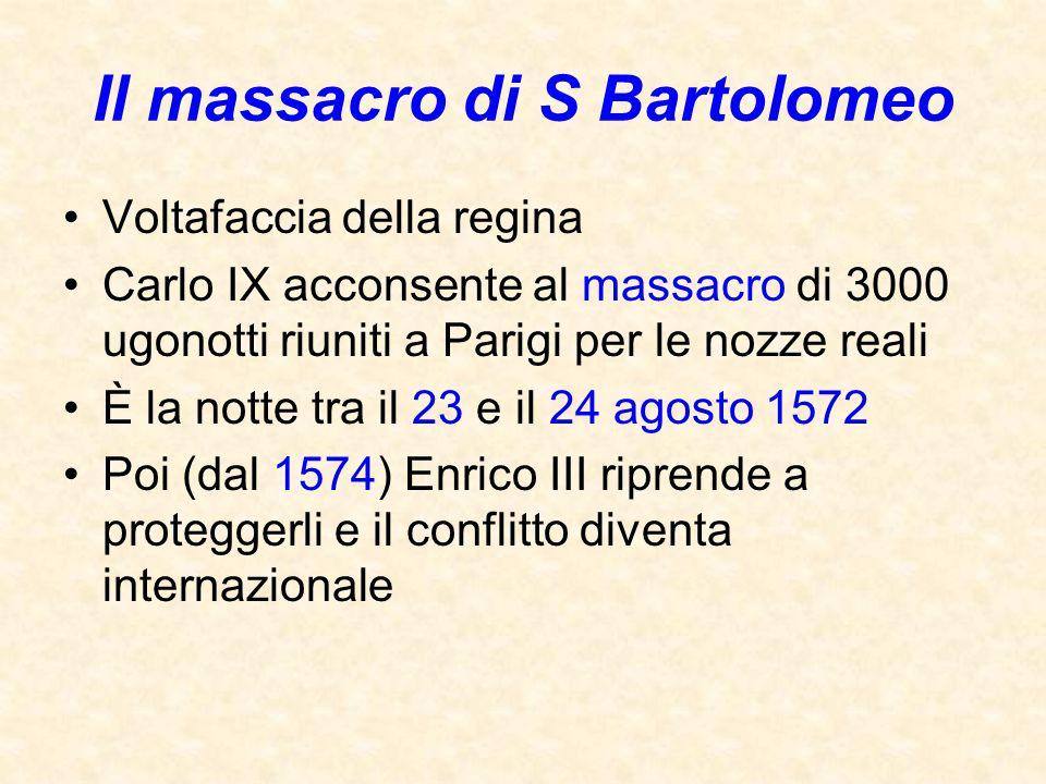 Il massacro di S Bartolomeo
