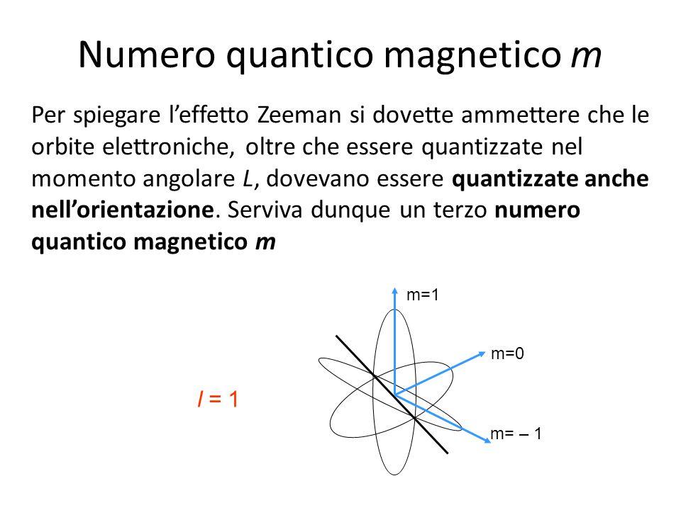Numero quantico magnetico m