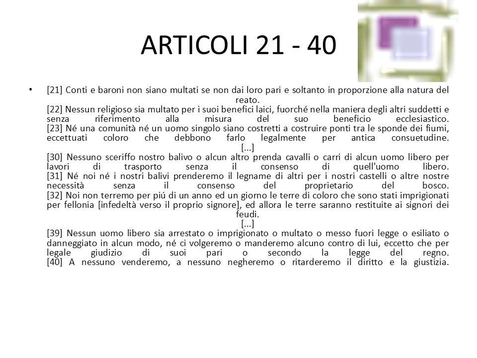 ARTICOLI 21 - 40