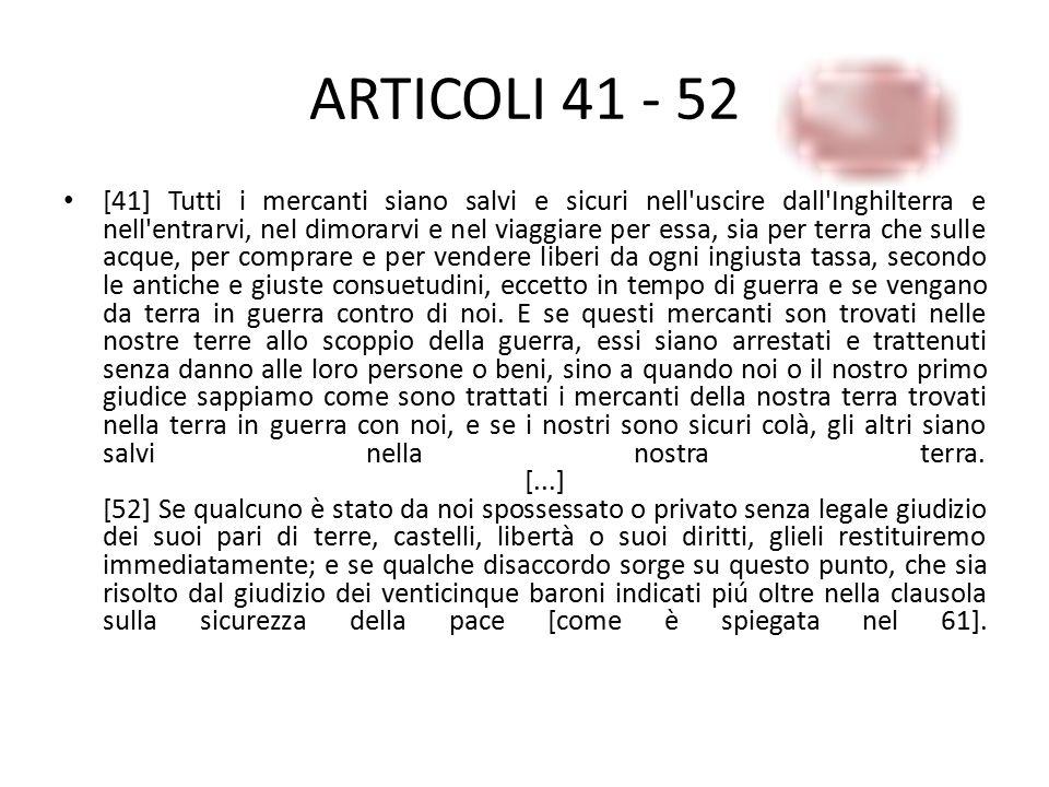 ARTICOLI 41 - 52