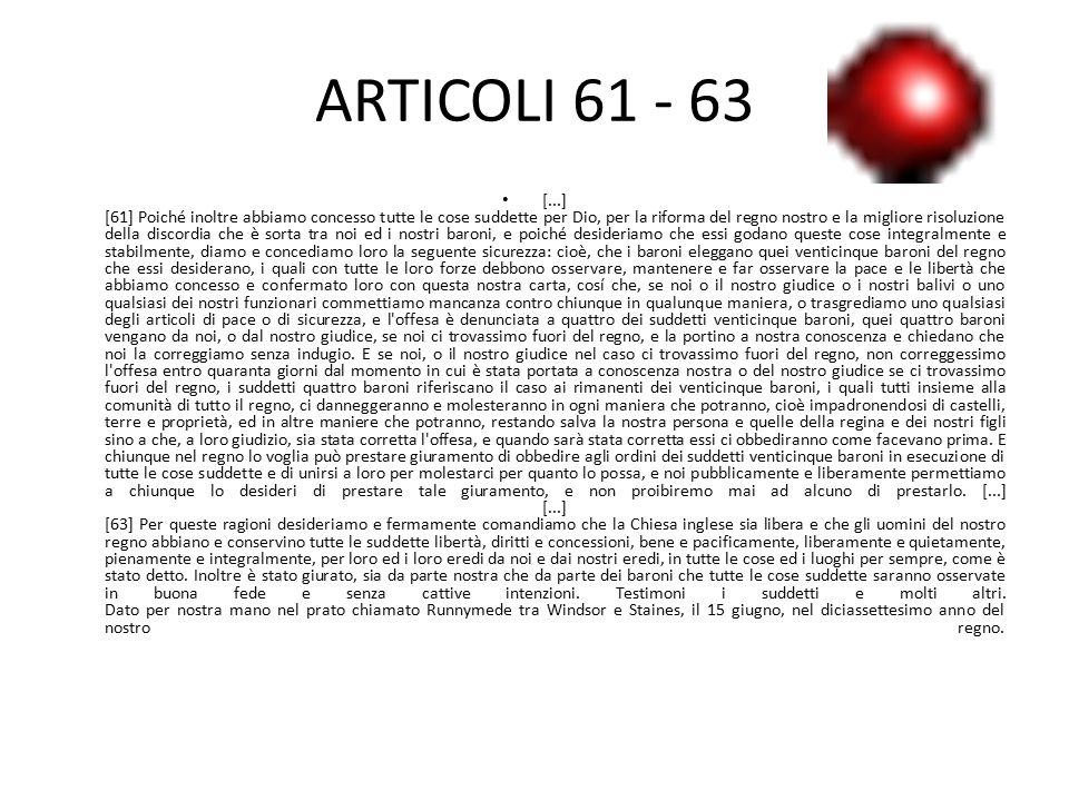 ARTICOLI 61 - 63