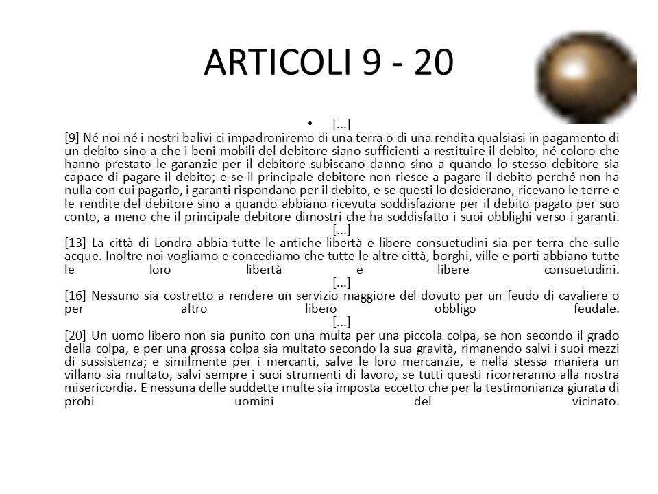 ARTICOLI 9 - 20