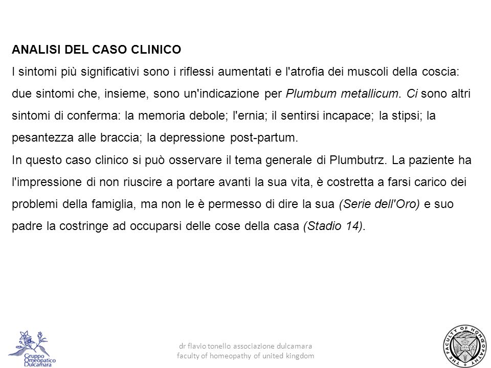 ANALISI DEL CASO CLINICO