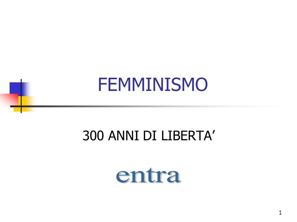 FEMMINISMO 300 ANNI DI LIBERTA' entra