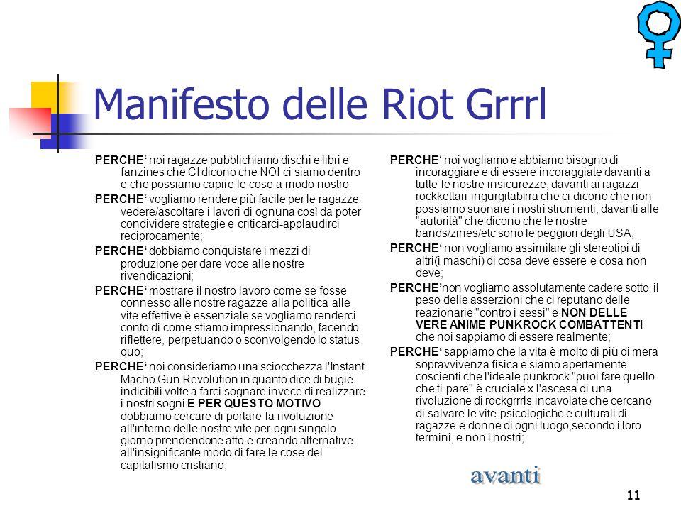 Manifesto delle Riot Grrrl