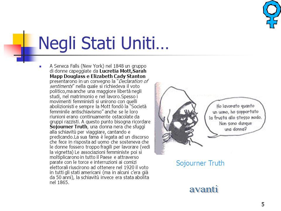 Negli Stati Uniti… avanti Sojourner Truth