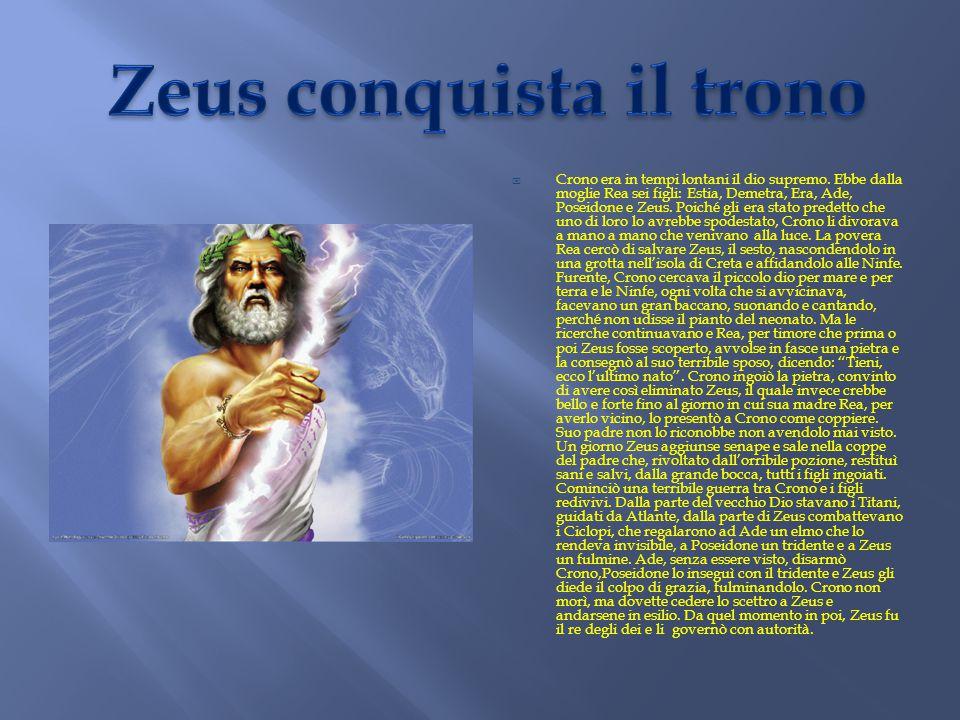 Zeus conquista il trono