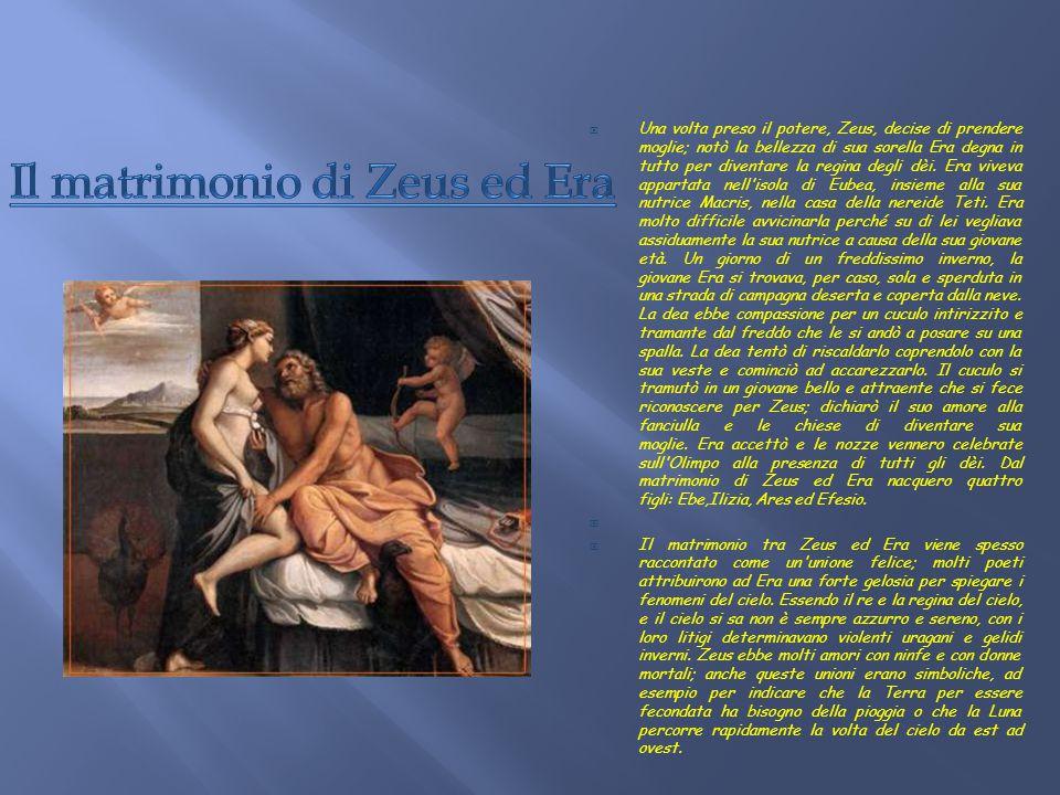 Il matrimonio di Zeus ed Era