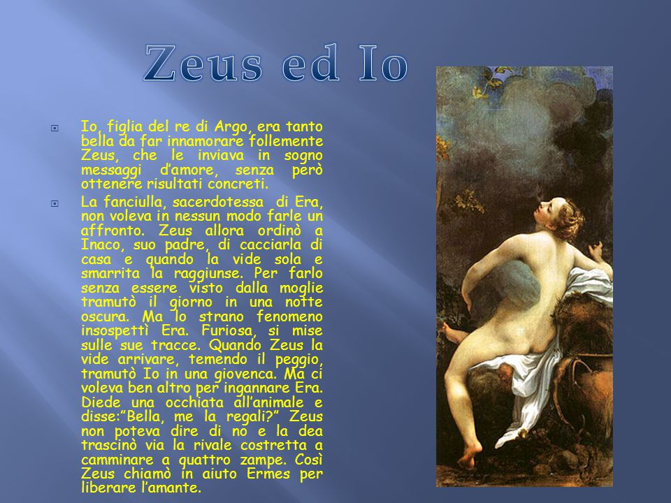 Zeus ed Io