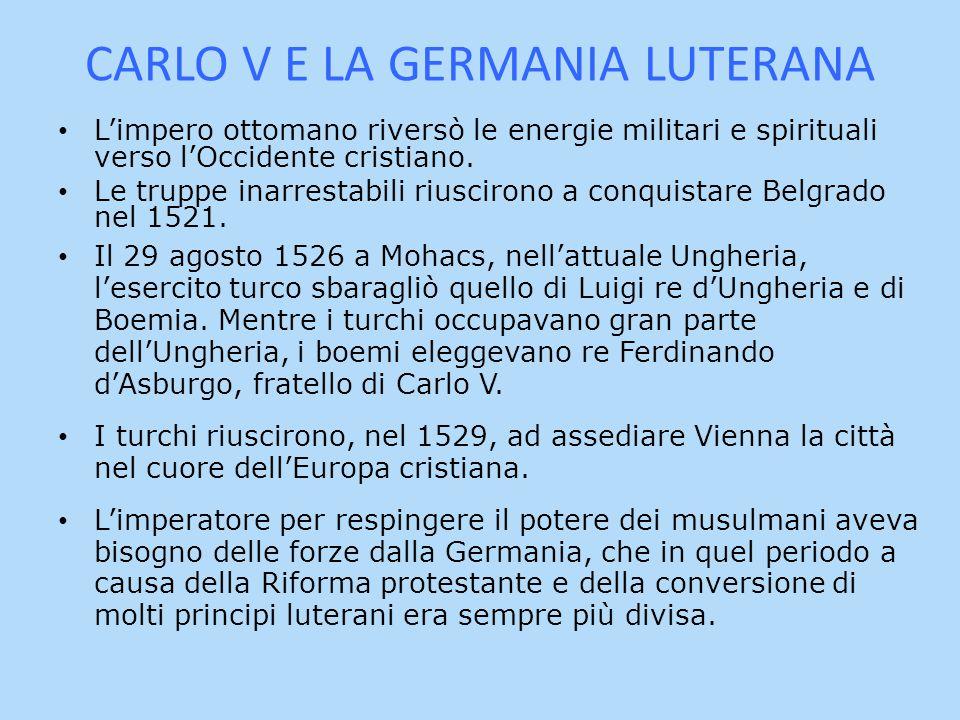 CARLO V E LA GERMANIA LUTERANA