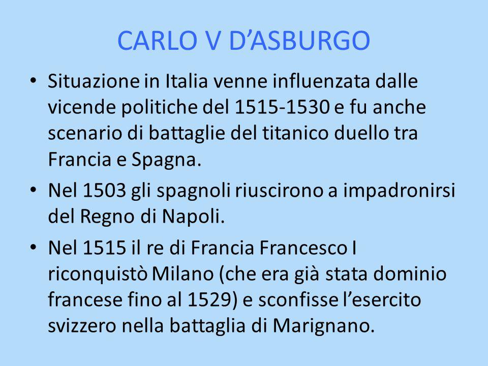 CARLO V D'ASBURGO