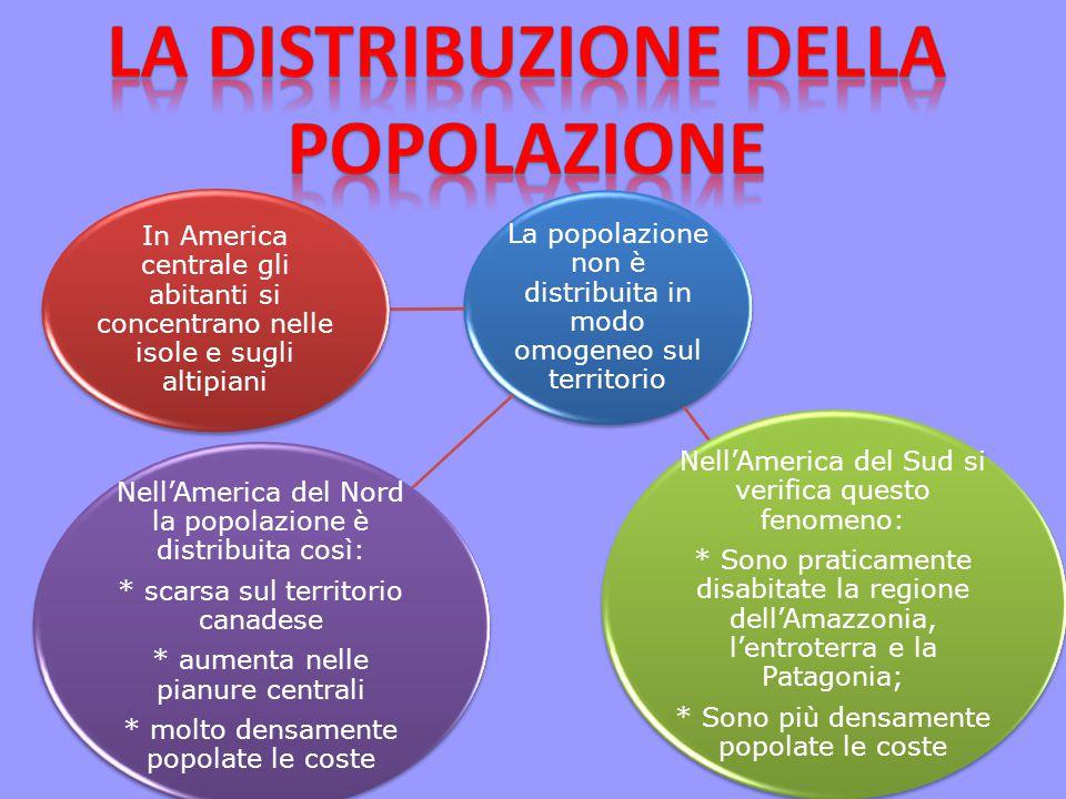 La distribuzione della popolazione