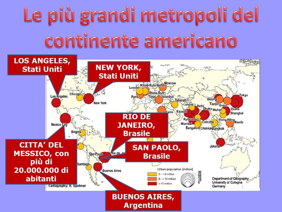 Le più grandi metropoli del continente americano