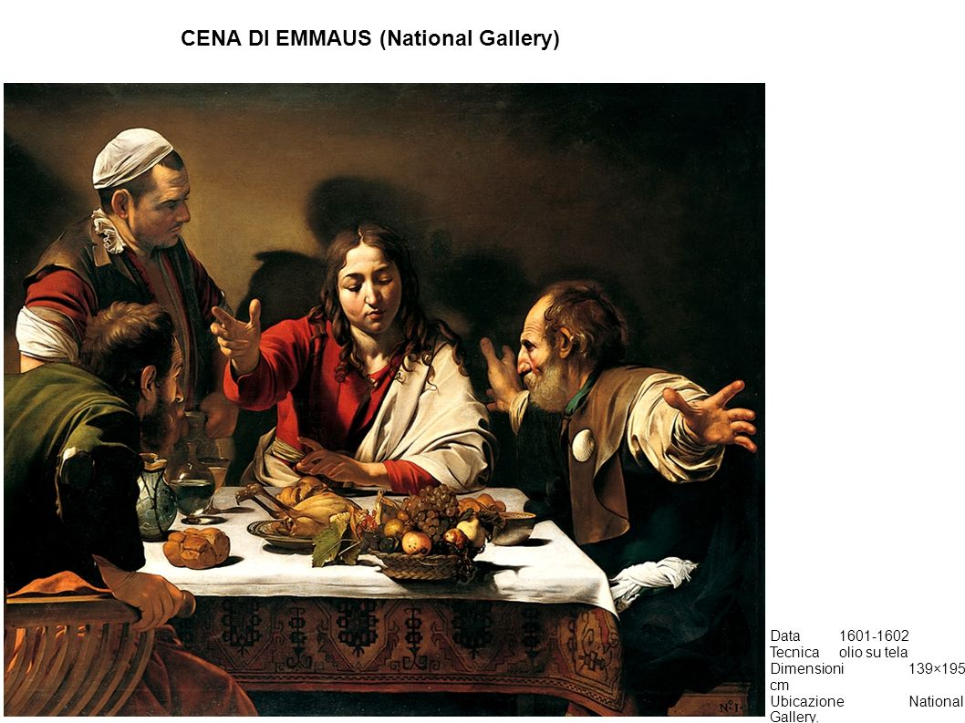 CENA DI EMMAUS (National Gallery)