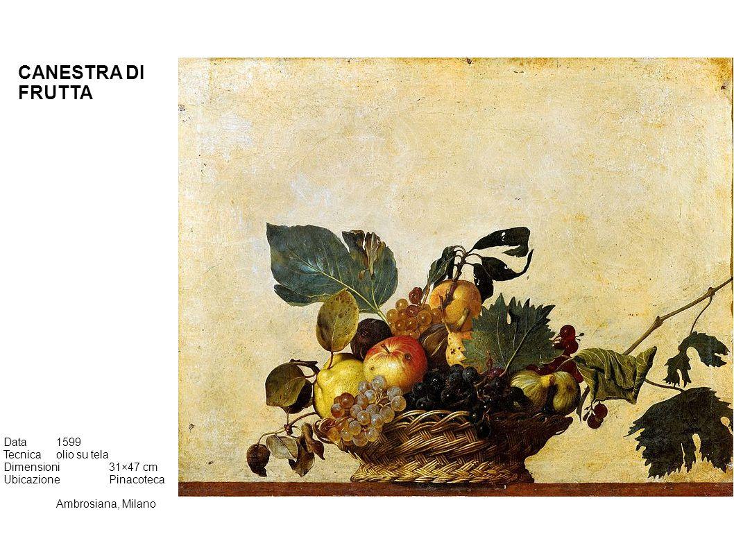 CANESTRA DI FRUTTA Data 1599 Tecnica olio su tela Dimensioni 31×47 cm