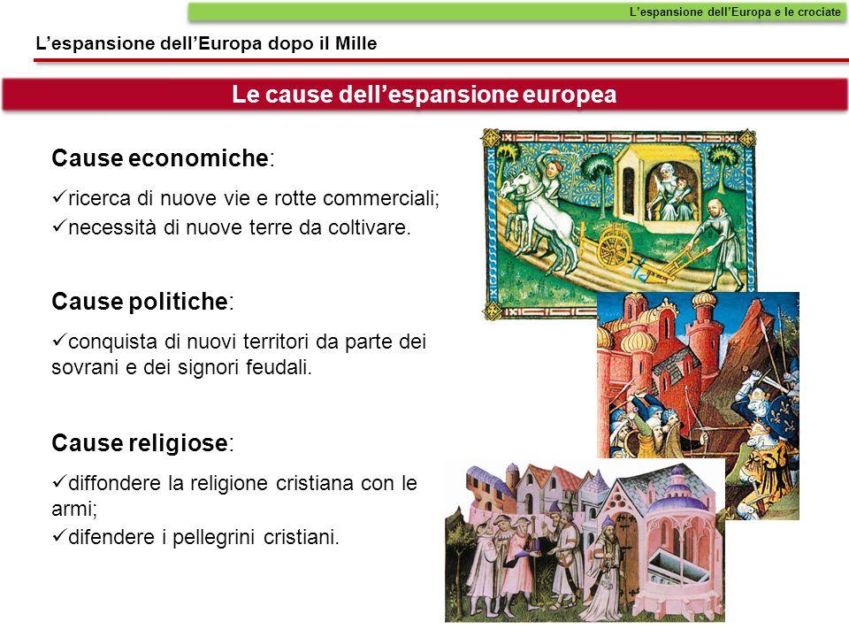 Le cause dell'espansione europea