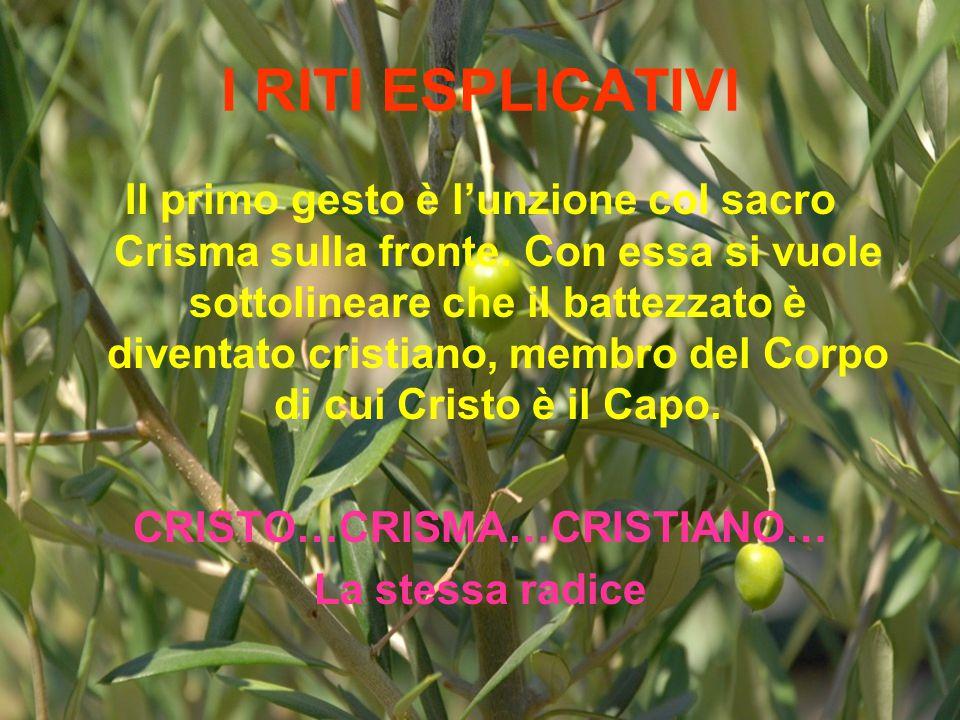 CRISTO…CRISMA…CRISTIANO…