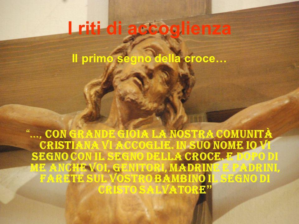 Il primo segno della croce…