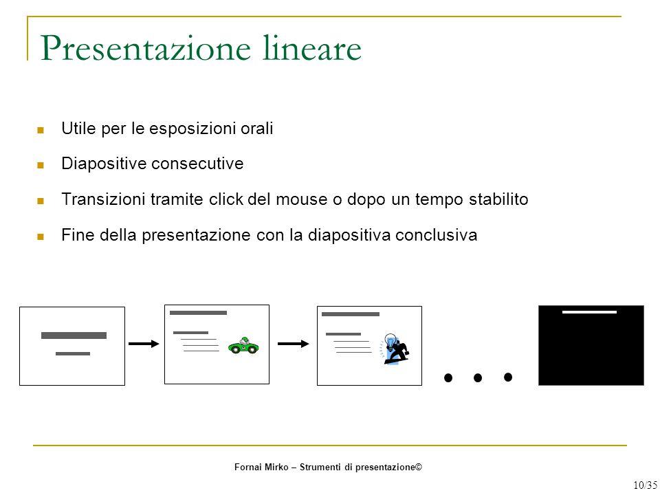 Presentazione lineare