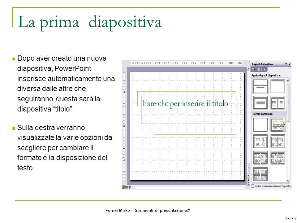 La prima diapositiva