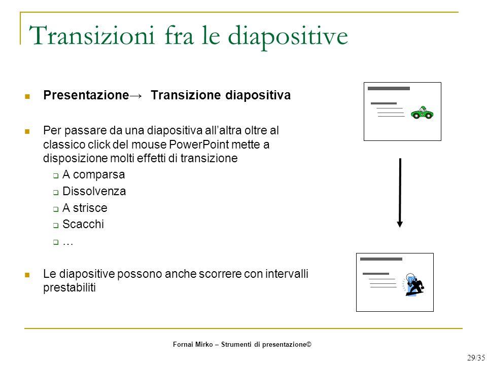 Transizioni fra le diapositive