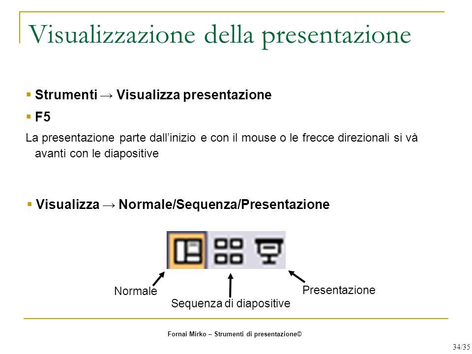 Visualizzazione della presentazione