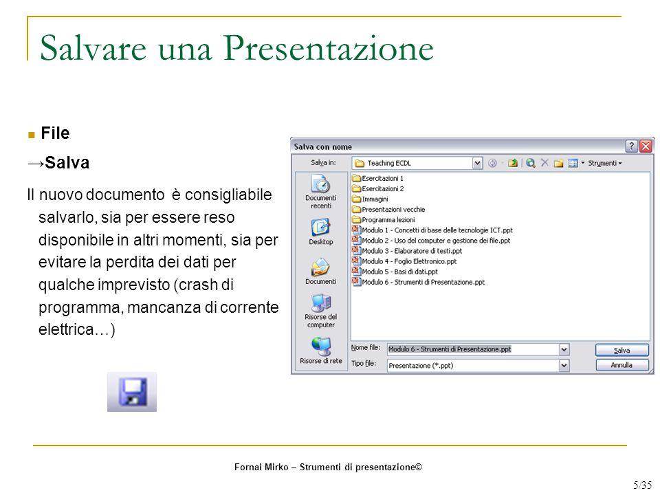 Salvare una Presentazione